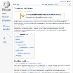 Television in Finland