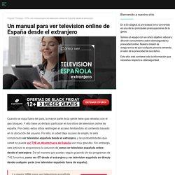 ¿Cómo ver television española desde el extranjero en 2020?