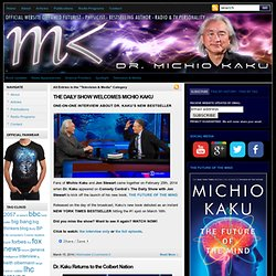 Television, Media & Speeches : Welcome to Explorations in Science with Dr. Michio Kaku