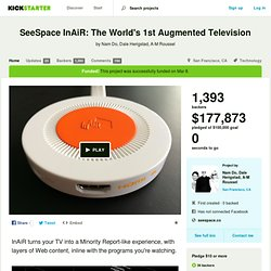 SeeSpace InAiR: The World's 1st Augmented Television by Nam Do, Dale Herigstad, A-M Roussel