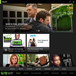Comedy Television Series and Mystery TV Show - Psych TV Series - USA Network