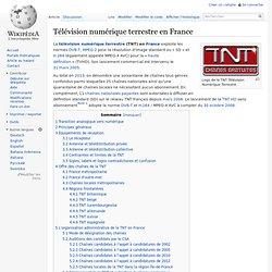 Télévision numérique terrestre en France