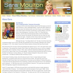 About Sara | Sara Moulton | Chef, Cookbook Author, Television Personality