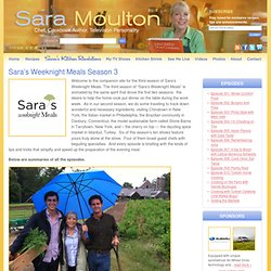 Sara's Weeknight Meals | Sara Moulton | Chef, Cookbook Author, Television Personality