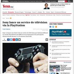 Sony lance un service de télévision via la PlayStation - High-tech