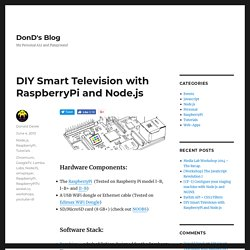 Build your own Google TV Using RaspberryPi, NodeJS and Socket.io