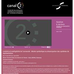 Ouverture - CanalC2 : la web télévision des événements universitaires de l'Université de Strasbourg