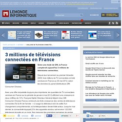 3 millions de télévisions connectées en France