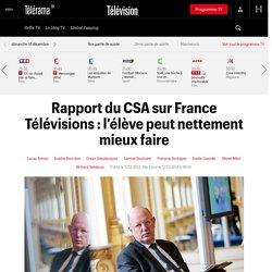 Rapport du CSA sur France Télévisions : l'élève peut nettement mieux faire