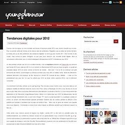 Tendances digitales pour 2012