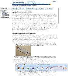 Montréal - GTI - Capsules d'aide - Pédagogie - Télévoteurs - Installation en classe