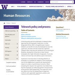 Telework policy and process