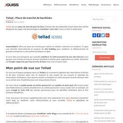 Teliad est une place de marché pour les liens