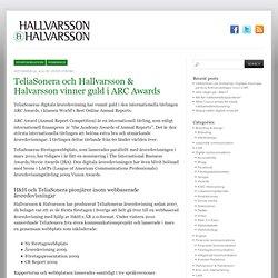 TeliaSonera och Hallvarsson & Halvarsson vinner guld i ARC Awards