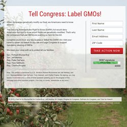 Tell Congress: Label GMOs!