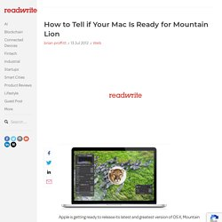 How to Tell if Your Mac Is Ready for Mountain Lion
