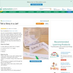 Tell a Story in a Jar!