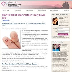 How To Tell If Your Partner Truly Loves You