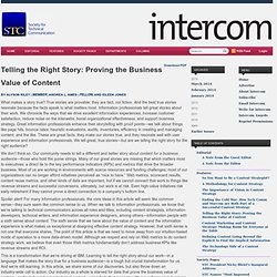 Telling the Right Story: Proving the Business Value of Content « intercom