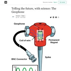 Telling the future, with science: The Geophone - Seistech - Medium