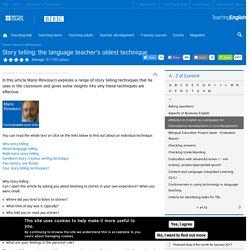 Story telling: the language teacher's oldest technique