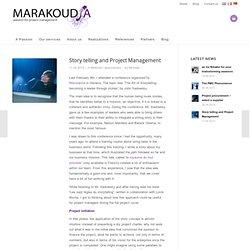 Le «story telling» et la gestion de projets