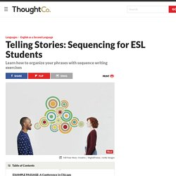 Telling Stories - Sequencing Your Ideas