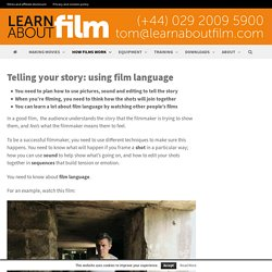 Telling your story: using film language - Learn about film