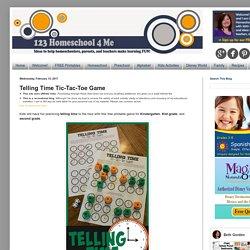 Telling Time Tic-Tac-Toe Game