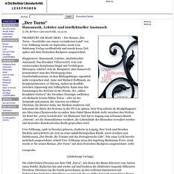 Uwe Tellkamp: Der Turm (Suhrkamp Verlag) / Leseprobe