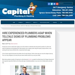 Hire Experienced Plumbers ASAP when Telltale Signs of Plumbing Problems Appear