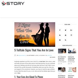 5 Telltale Signs That You Are In Love