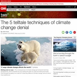 The 5 telltale techniques of climate change denial