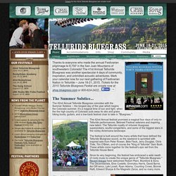 39th Telluride Bluegrass Festival | June 21-24, 2012 in Telluride, CO