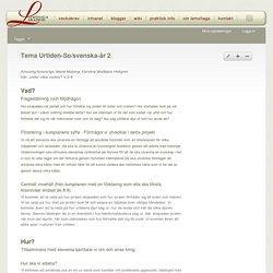 Tema Urtiden-So/svenska-år 2