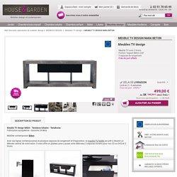 Meuble TV design NARA BETON de TEMAHOME - Mobilier salon tendance