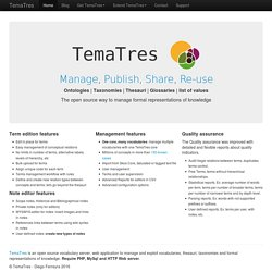 TemaTres Vocabulary Server | The way to manage formal representations of knowledge