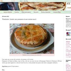 CC-cuisine: Téméraire {tourte aux pommes et aux raisins secs}
