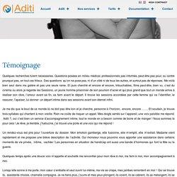Témoignage - www.aditivzw.be