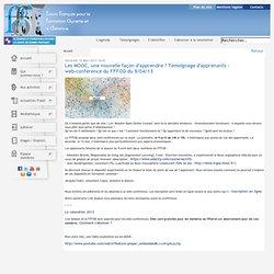 Les MOOC - Témoignage d'apprenants – web-conférence du FFFOD du 9/04/13