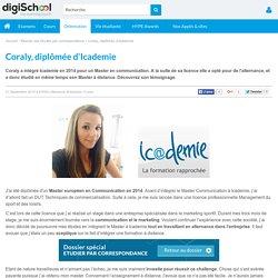 Témoignage : Coraly, diplômée d'Icademie en Master Communication