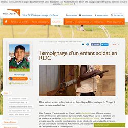 Témoignage d'un enfant soldat en Rép. Démocratique du Congo