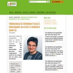 L'Educ de Normandie » Témoignage de Véronique Tuillet, enseignante au lycée Le Verrier à Saint Lô