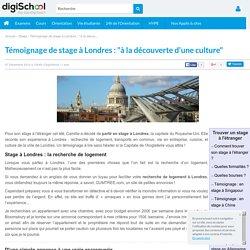 """Témoignage de stage à Londres : """"à la découverte d'une culture"""""""