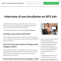 Témoignage d'une étudiante - BTS Support à l'Action Managériale