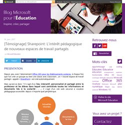 [Témoignage] Sharepoint: L'intérêt pédagogique de nouveaux espaces de travail partagés