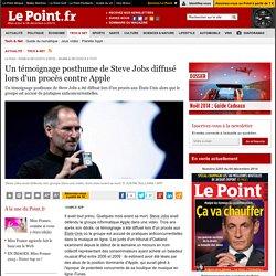 Un témoignage posthume de Steve Jobs diffusé lors d'un procès contre Apple
