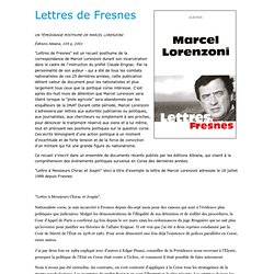 06/2000 Étrange fin de Marcel & Pierre Lorenzoni