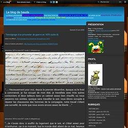 - Témoignage d'un prisonnier de guerre en 1870 (suite 8) - Le blog de Bauds