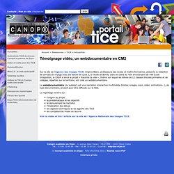 Témoignage vidéo, un webdocumentaire en CM2